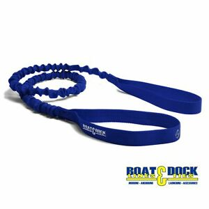 Extra-Long-Dock-Tie-Bungee-5-Feet-long-Stretches-to-8-Feet-USA-Made-Blue