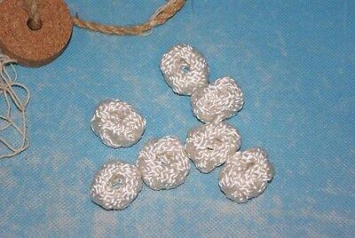 Makrameeknoten Weiß für Halstuch Schal Tuch Knoten Seemannsknoten Maritim Kostüm