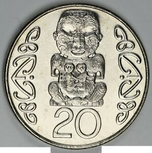 New-Zealand-2005-20-cents-UNC-Coin-Mintage-under-178-000-Scarce