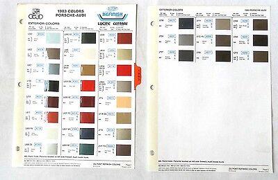 1983 PORSCHE DUPONT COLOR PAINT CHIP CHART ALL MODELS ...