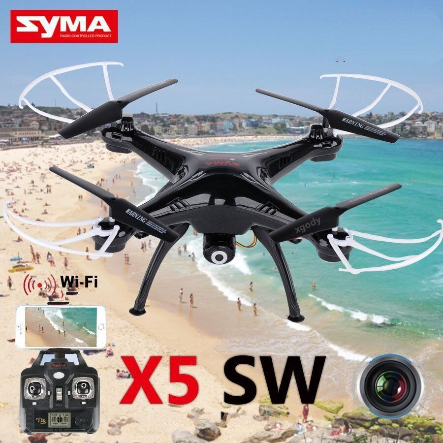 Syma X5SW WiFi Drohne 2Gyro 4CH 6-Achsen 2 4G FPV RC Quadcopter mit Kamera TOLL