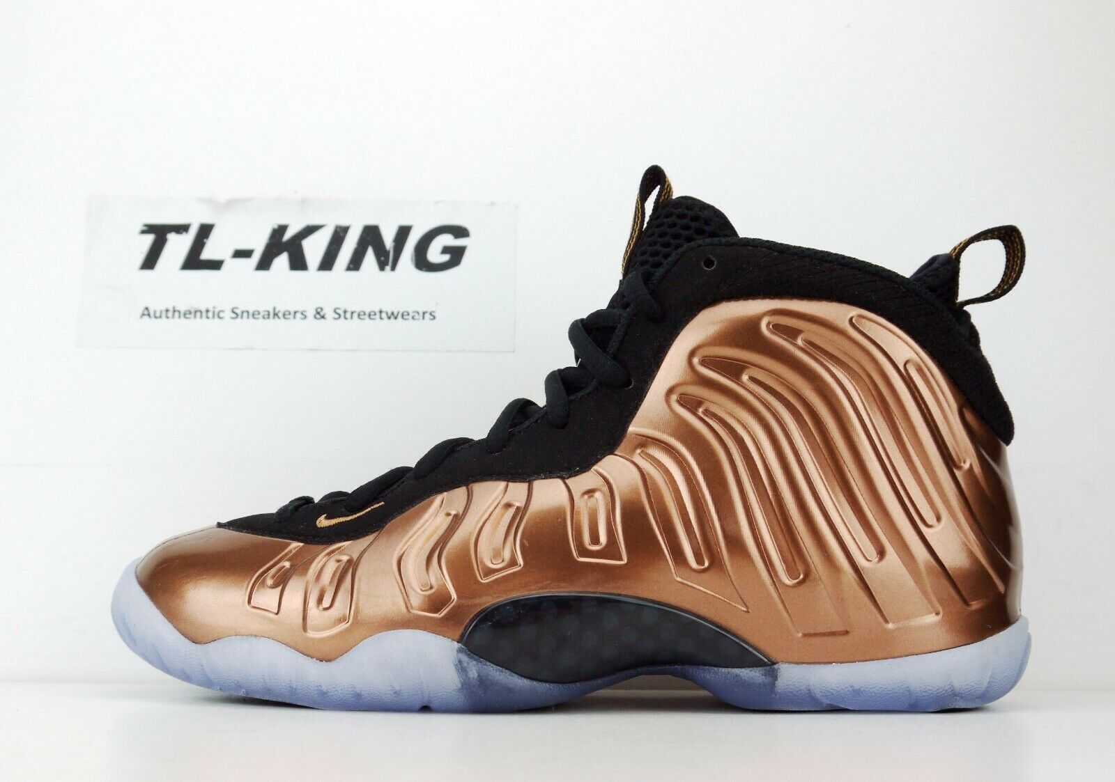 new product 181aa aa033 Nike Little Posite One GS Youth Black Metallic Copper Copper Copper 644791  004 nb AT 792133