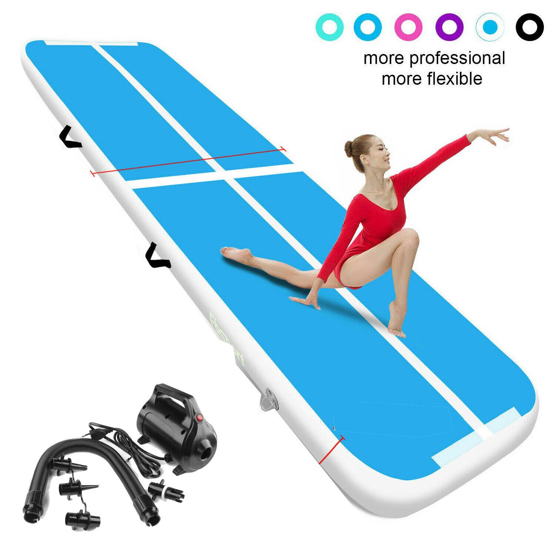 3M Air Yoga Track Floor Inflatable Air Gymnastics Tumbling track Mat GYM Blue
