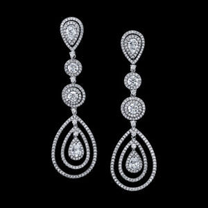 4471c151a Diamond Chandelier Earrings 6.00 Carats Total Weight 18K White Gold ...