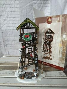 Lemax 24757 wooden ranger Tower village enchanted Forest Xmas decor forest