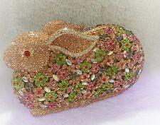 Multi Color~Rabbit~New Handmade Austria Crystal Evening/Bridal Clutch Purse Bag