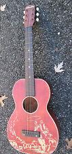 Vintage 50s Silvertone Harmony Parlor USA Lady's 3/4 COWBOY STENCIL Guitar AS IS