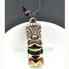 cool MAN BOY Tiki totem Pendant Necklace Adjustable RH296