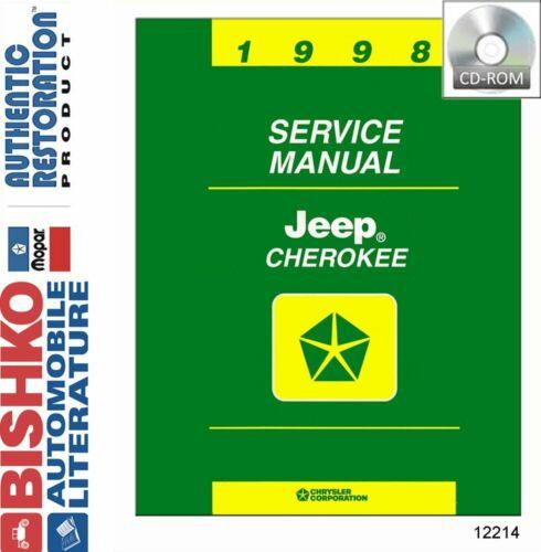 Bishko OEM Repair Maintenance Shop Manuals CD /& Bound for Jeep Cherokee 1998