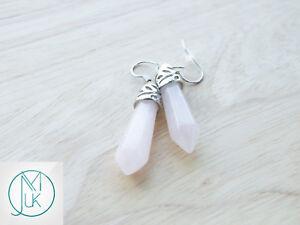Rock-Crystal-Natural-Gemstone-Earrings-Quartz-Crystal-Chakra-Healing-Stone-Chakr