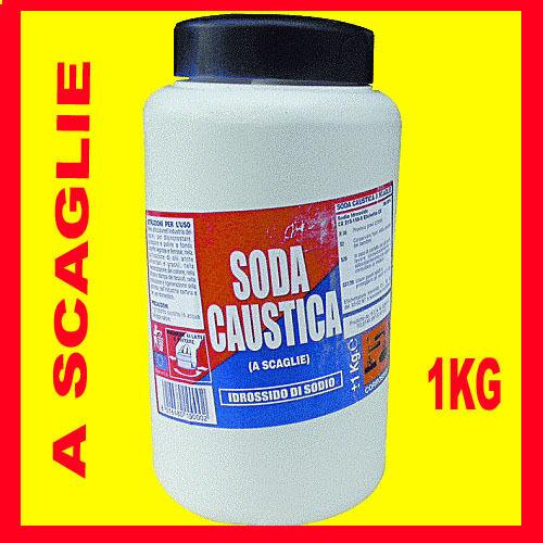 SODA CAUSTICA IN SCAGLIA CONF 1 KG IN BARATTOLO DISGORGA STURA CASA BAGNO  40945