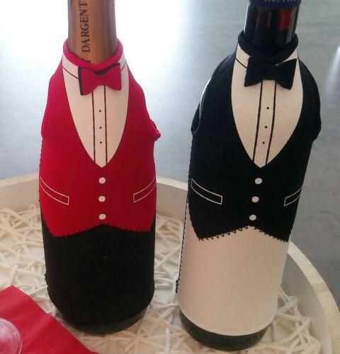 Flaschenhülle Butler wählbar in rot oder weiß Flaschen-Geschenk-Verpackung