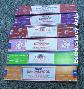 Satya-Nag-Champa-Incense-Sticks-Sampler-Best-Seller-Set-5-6-x-15-gram-90-total