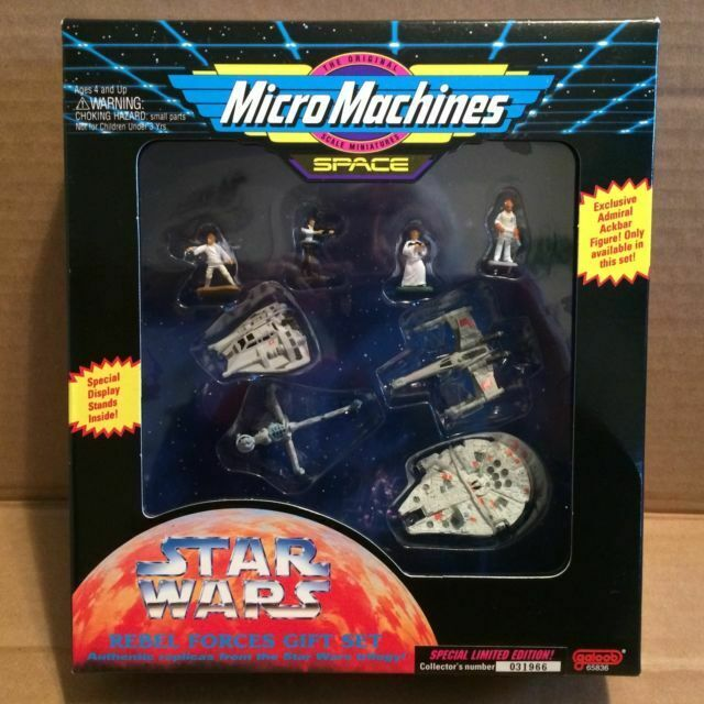 "Star Wars Micro Machines Rebel Medical Escort Frigate 2.50/""  w//Stand Galoob 1994"