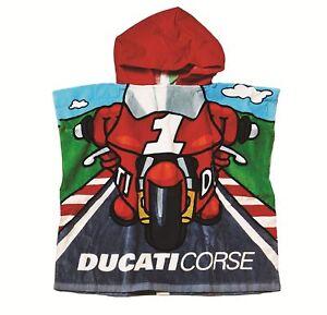 Ducati-Corse-poncho-bano-Ninos-Toalla-Toalla-de-bano-CoMIC-Albornoz-toalla