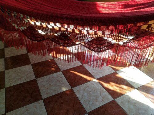 Wicks Fringe Handmade Hanging Hammock Laid Down Boho Fringe