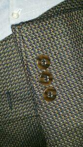 50R-BIG-TALL-Petrocelli-Fleck-Orange-Check-Tweed-WOOL-Jacket-Sport-Coat-Blazer