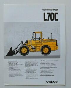 VOLVO-Wheel-Loader-L70C-1997-dealer-brochure-catalog-English-USA
