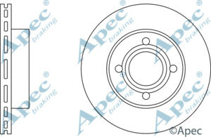 PAIR FOR AUDI TT GENUINE APEC DSK3166 FRONT BRAKE DISCS