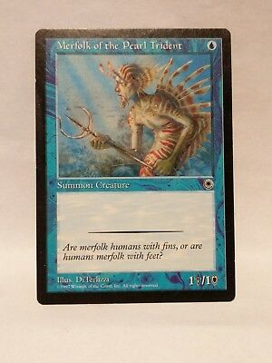 Blue Common MAGIC MTG CARD ABUGames Merfolk of the Pearl Trident Unlimited MINT