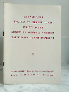 Catalogue Di Vendita Ceramica Avorio E Pierre Dure 31 Mai 1970