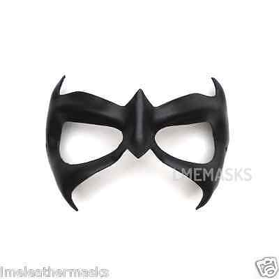 Leather Mask Nightwing Robin Halloween Cosplay Carnival Black Comic Super Hero