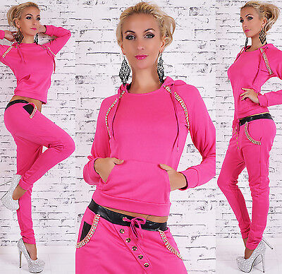 Sexy Women's 2-Piece Full Tracksuit Joggings With Hood Harem Pants Suit HOT