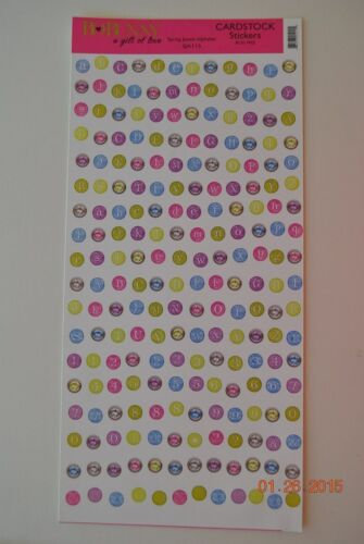 Bo Bunny Scrapbooking Crafts Cardstock Stickers Choose Alphabets Boy Pet +