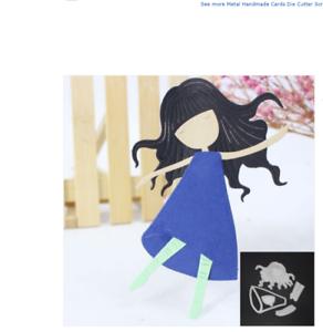 Cute Build up Girl Doll CUTTING DIE #10