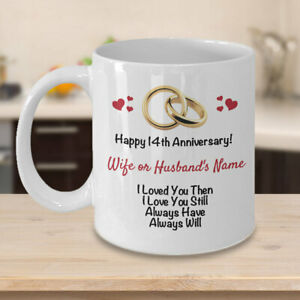 Personalized 14th Anniversary Gift Ideas Wife Husband ...