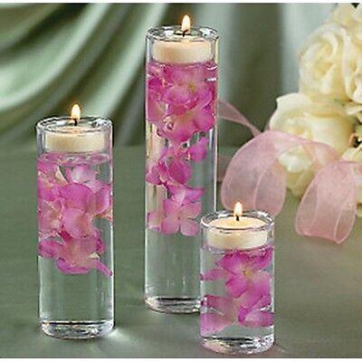 Set of 3 Glass Cylinder Tealight Holder Ceremony Vase Wedding Centerpiece