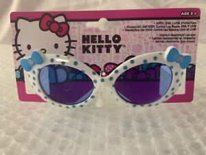 e3a228023 NEW Girls kids Hello Kitty white with blue and bow Sunglasses 100 ...