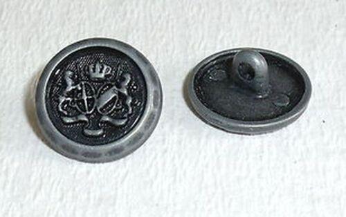 10 Stück Wappenknöpfe Trachten Knöpfe Knopf  anthrazit  15 mm 01.47#321#