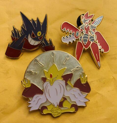 Set of 3 Scizor /& Alakazam Pokemon Collection Pins Gengar