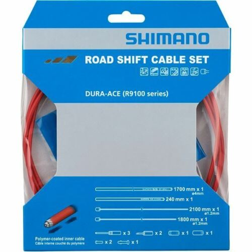 Shimano Dura-Ace RS900 Road gear cable set red Polymer coated inners