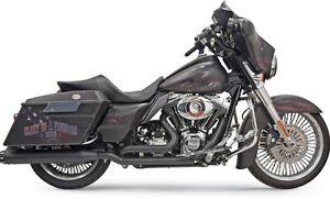Bassani-True-Dual-Black-Down-Under-System-1F66RB-for-Harley-Davidson-2009-2016