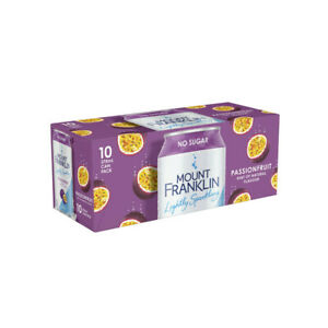 Mt Franklin Passionfruit Flavour Lightly Sparkling Water 10x375mL 10 pack