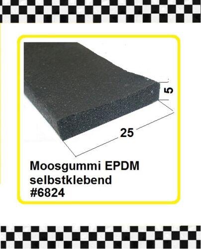 1m MUSTER Moosgummi klebend Gummidichtung Türdichtung  25x5mm 6824 aus BERLIN