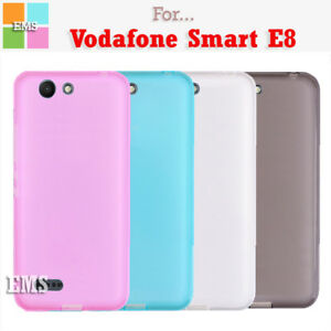the latest 10a6d 5270e Details about Soft TPU Gel Clear TPU Case Cover For Vodafone Smart E8
