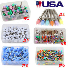 100pc Assorted Color Dental Polishing Prophy Brush Cup Siliconenylon Latch Type