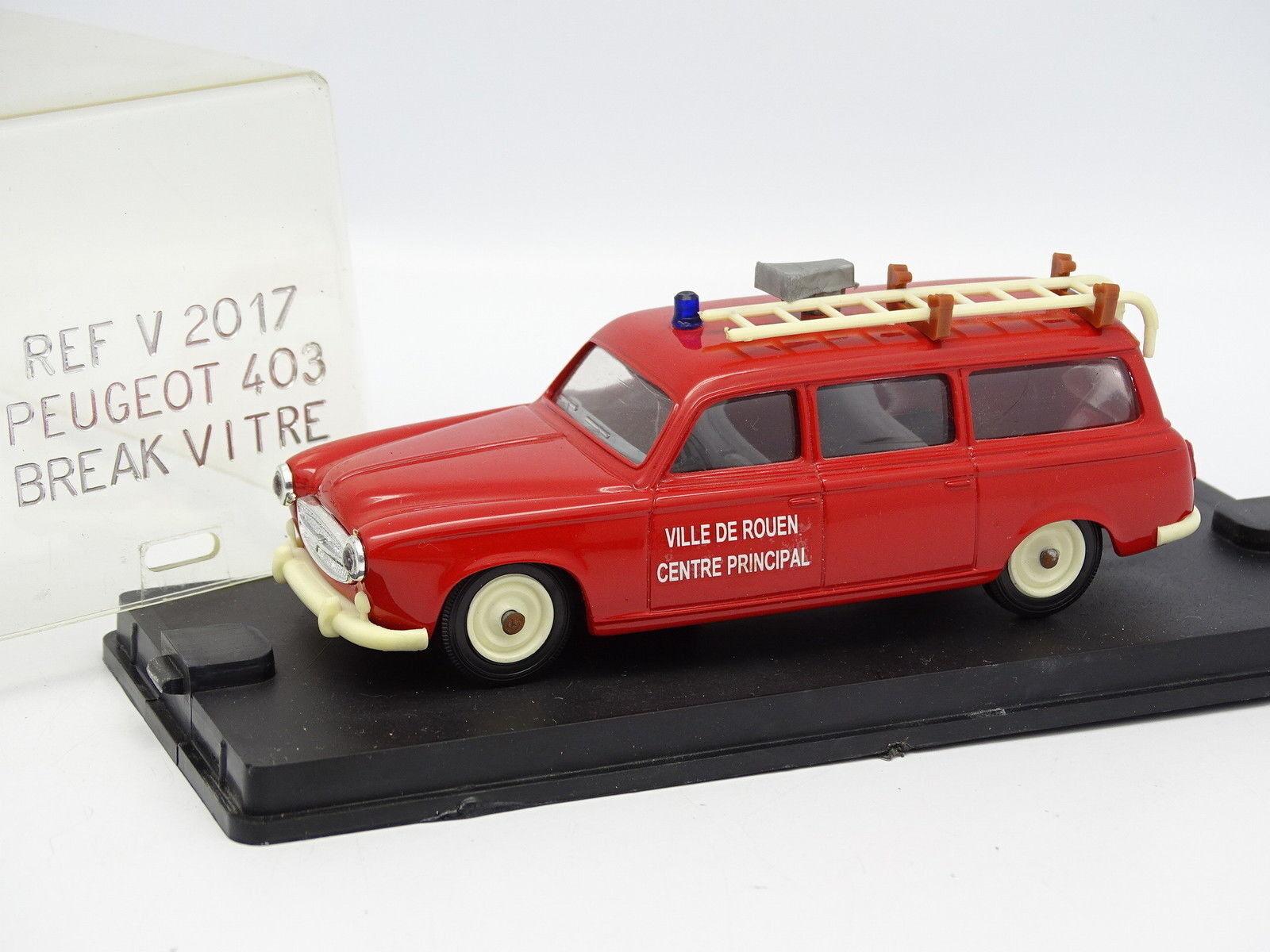 Verem Resina 1 43 - Peugeot 403 Break Vetro Pompieri Rouen