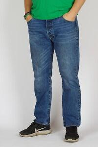 Levi-s-501-Original-fit-Straight-leg-Vedat-Herren-indigo-blau-Jeans-36-30