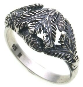 Ring Genuine Silver 925 Fir Branch With Tap Hunting Jewelry Grandel Jewelry