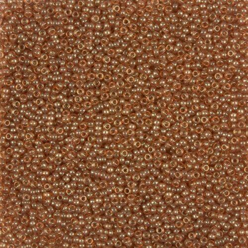 B88//18 Miyuki Seed Beads Size 15//0 Apricot Topaz Gold Luster 15-18878.2g