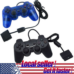US SHIP Twin Shock Game Controller Joypad Pad for Sony PS2 Playstation 2 dis