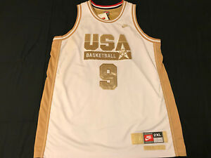 differently dc2e9 8d077 Details about Michael Jordan White/Gold Dream Team 92 USA Barcelona Olympic  jersey 2XL XXL NWT