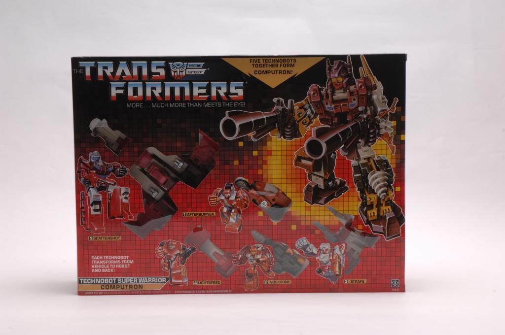 Transformers G1 SUPER WARRIOR COMPUTRON eau Noël