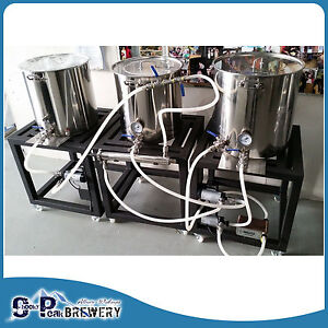 Details about 65ltr 3V Nano Brewery Complete, Modular Single Tier Stand,  Mash Tun, Brew Kettle