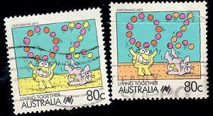 Australia-1988-80c-Living-Together-Missing-Orange-MY42