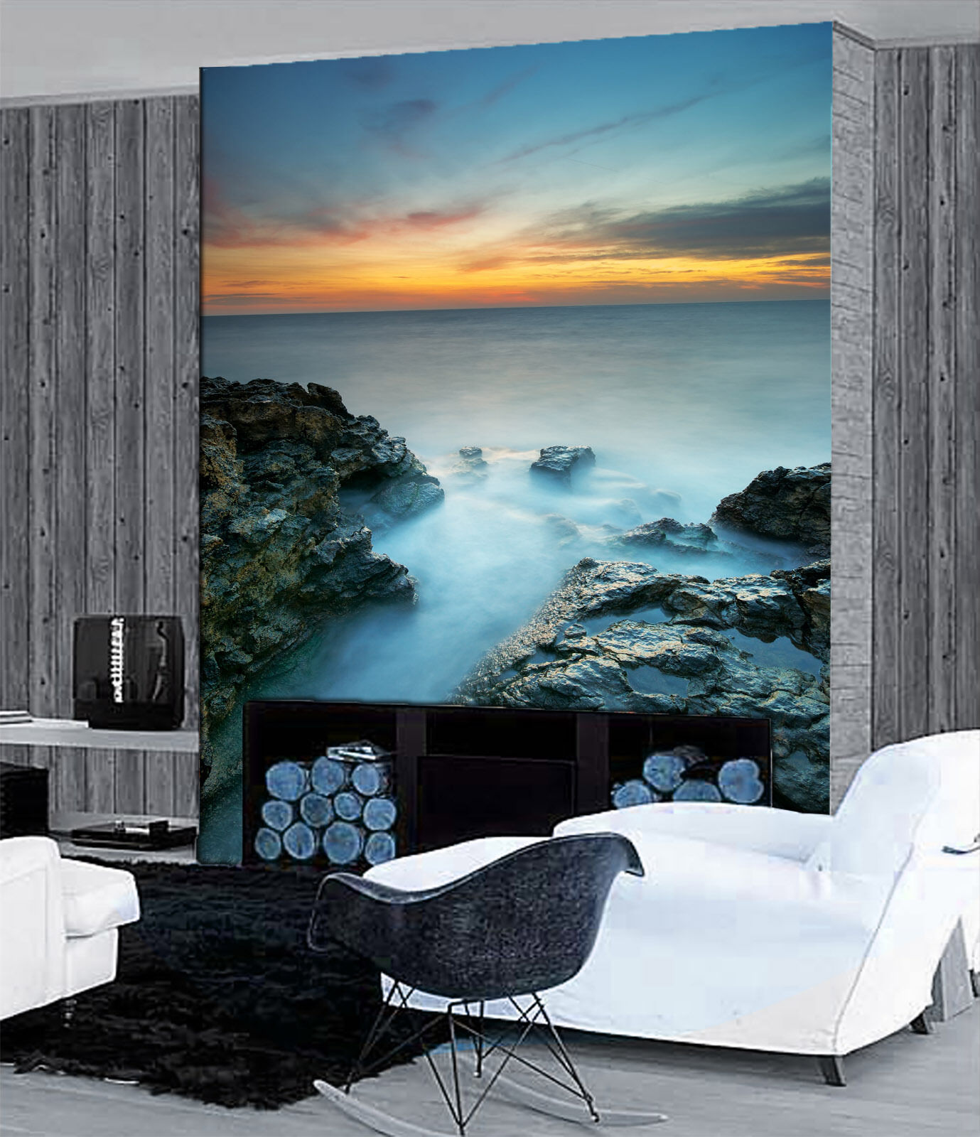 3D Sea Sunset Scenery 3 Wall Paper Wall Print Decal Wall Deco Wall Indoor Murals